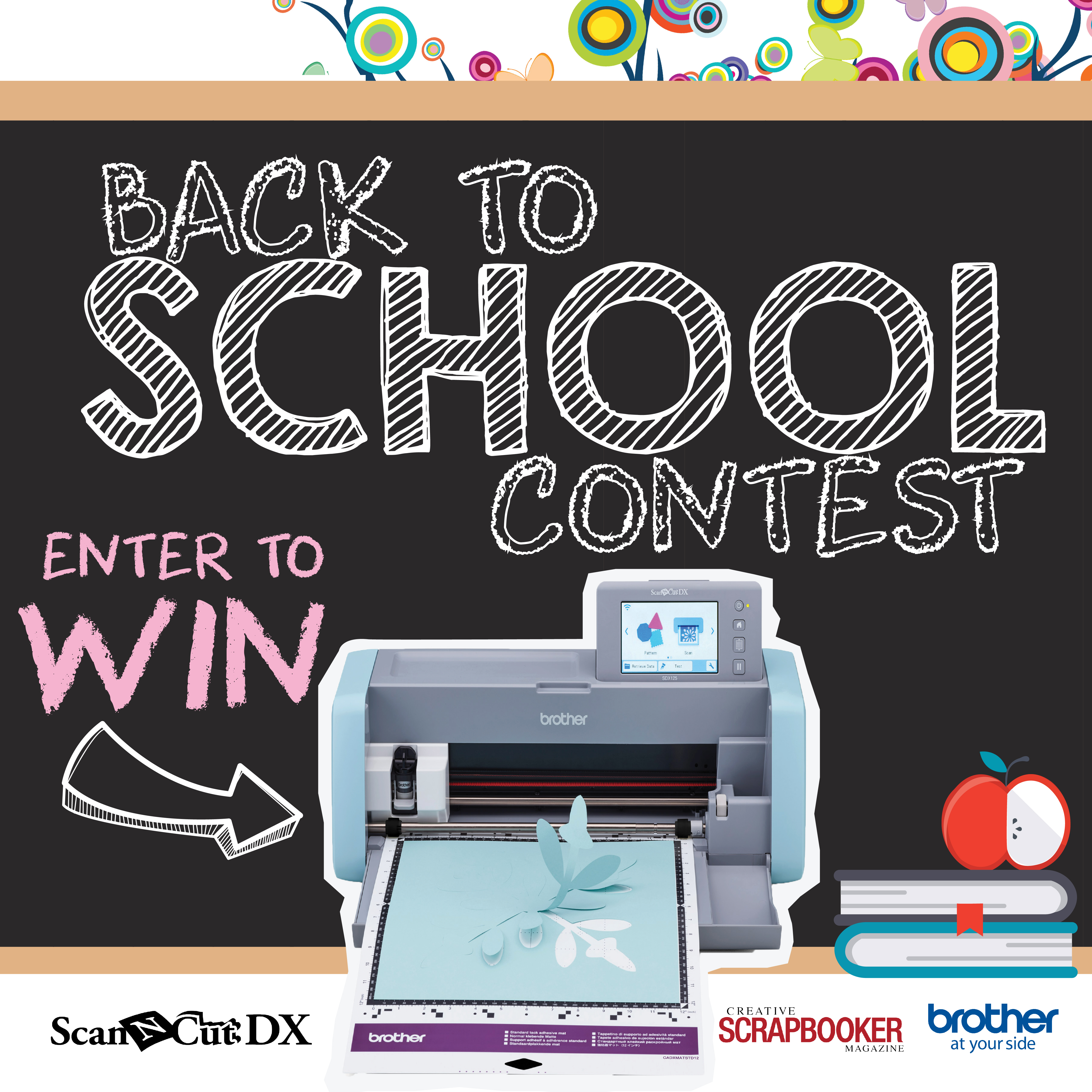 Enter our Back 2 School contest with Brother and Creative Scrapbooker Magazine