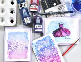 Brea Reese watercolor cards designed by Allison Orthner