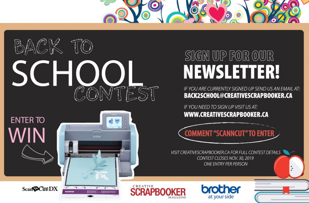 back to school contest newsletter image. win a free printer