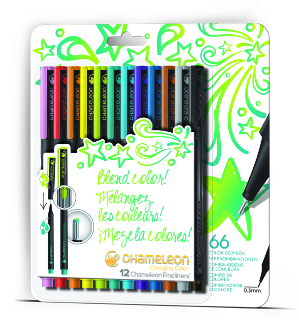 Chameleon Color Tone Fineliner Pens in Bold Brights