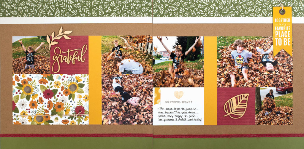 Fall Scrapbook Layout - Double Page Spread - Designed by Heather Steeves featuring Close To My Heart