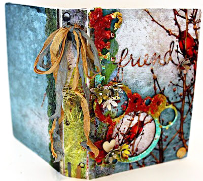 Friends Notebook and Mini Album designed by Pam Bray featuring Sizzix