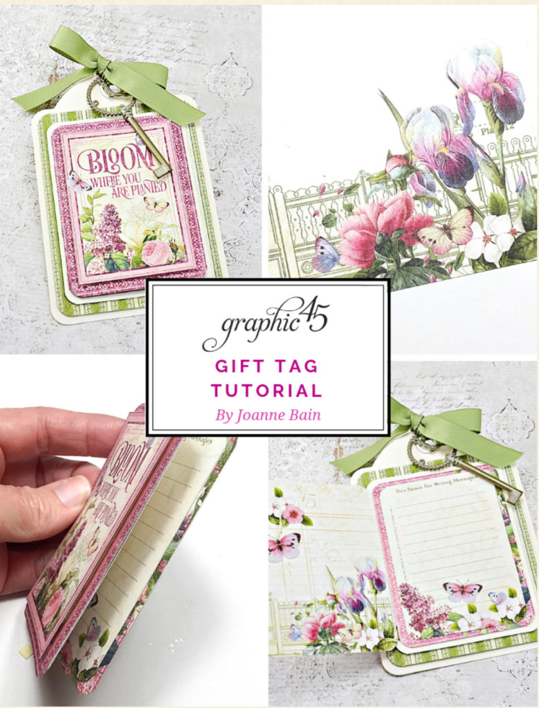 Graphic 45 Tag Tutorial featuring the Bloom Collection