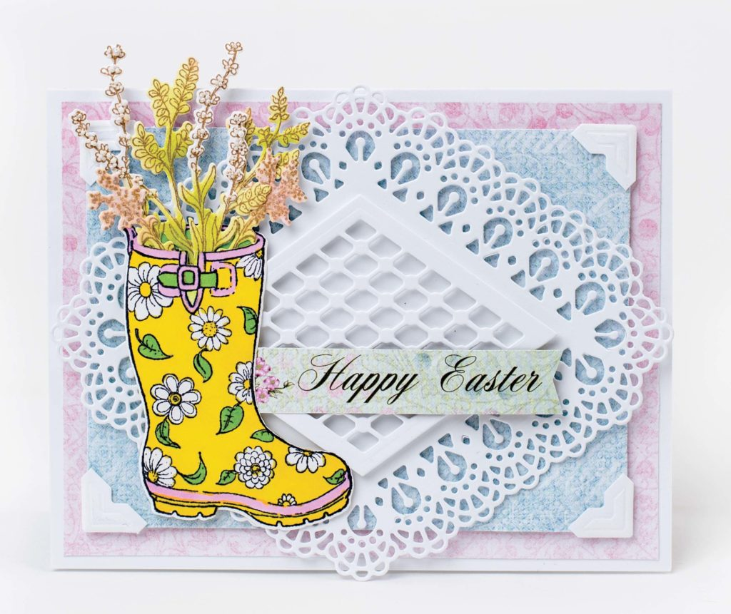 Easter Scrapbook Card featuring Heartfelt Creations designed by Tracy McLennon