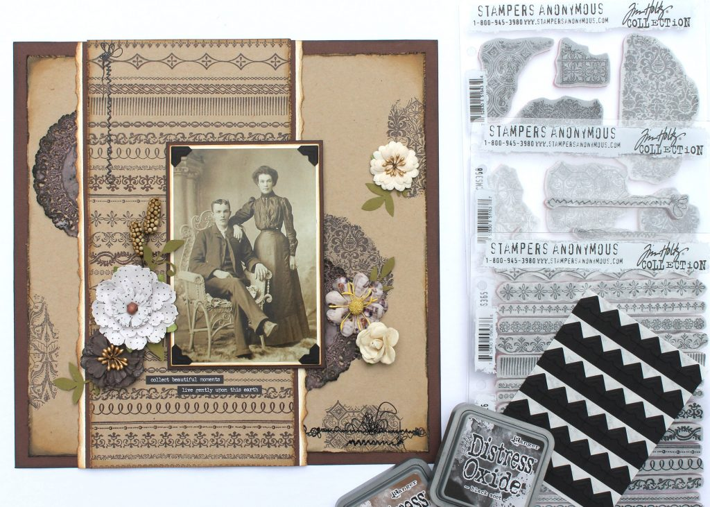 Heritage Layout Stampers Anonymous Tracy McLennon Creative Scrapbooker Magazine