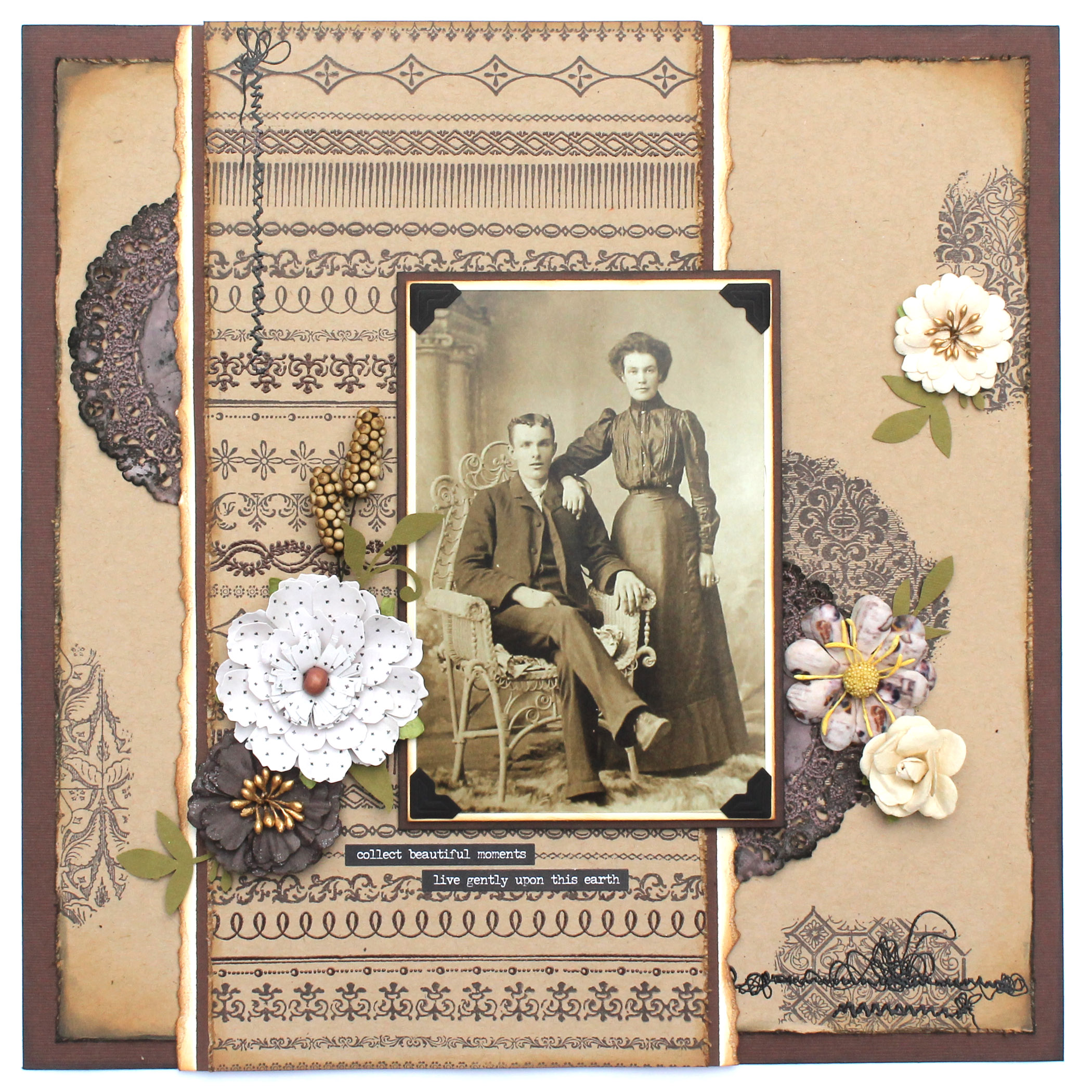 Heritage Layout designed by Tracy McLennon featuring Stampers Anonymous