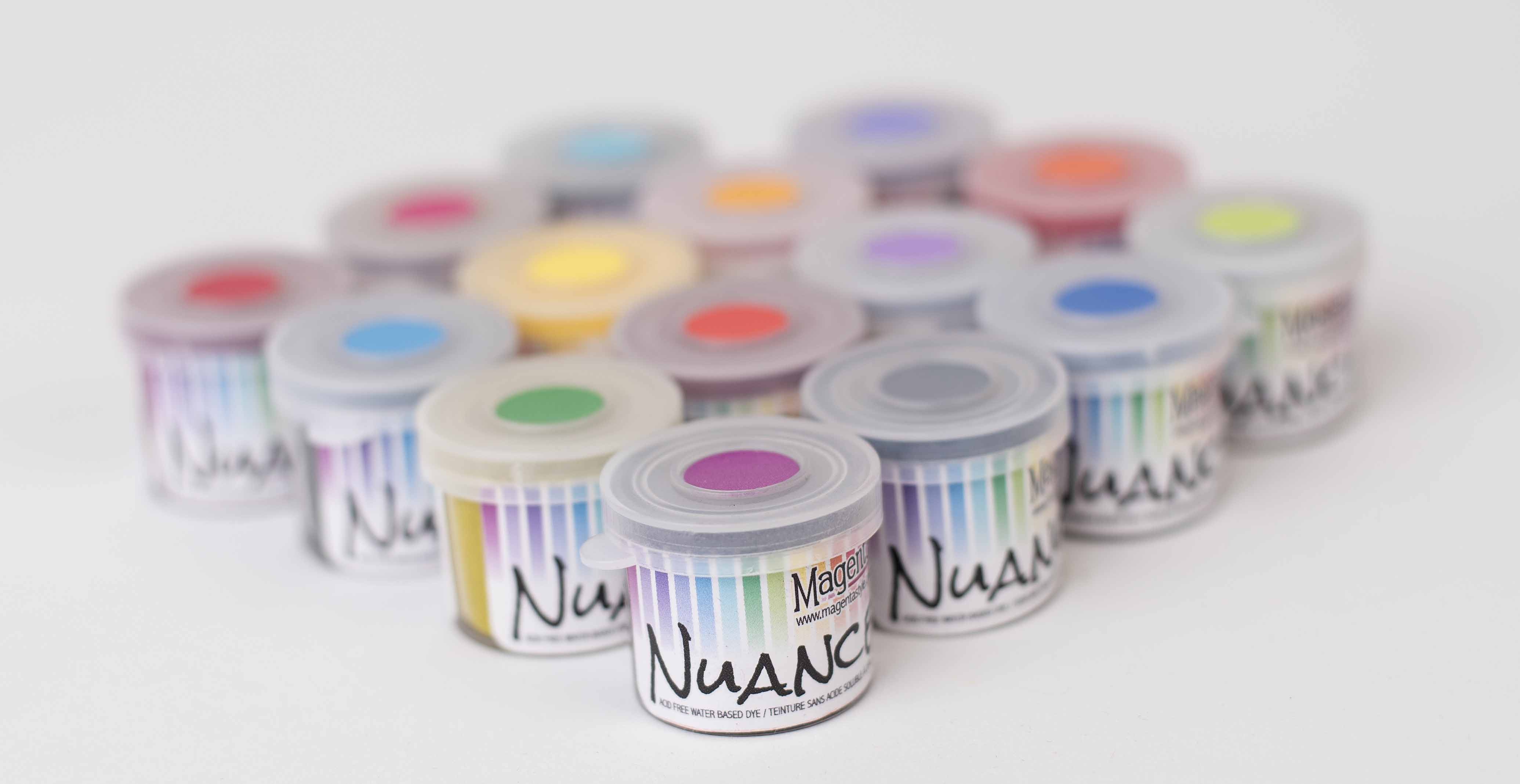 Magenta Nuance Pigment Ink Powders in a variety of colors