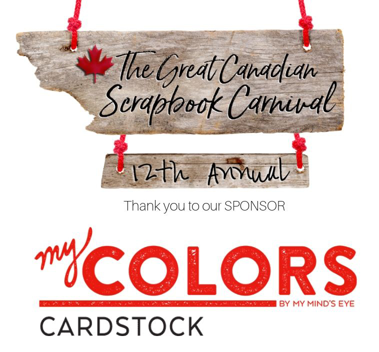 My Colors Cardstock Carnival Sponsor Logo for the Great Canadian Scrapbook Carnival