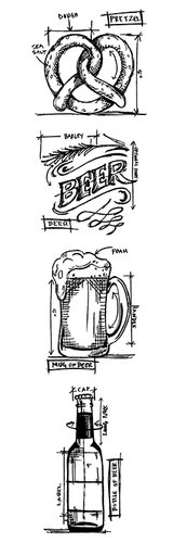 Stampers Anonymous Tim Holtz Beer Stamps