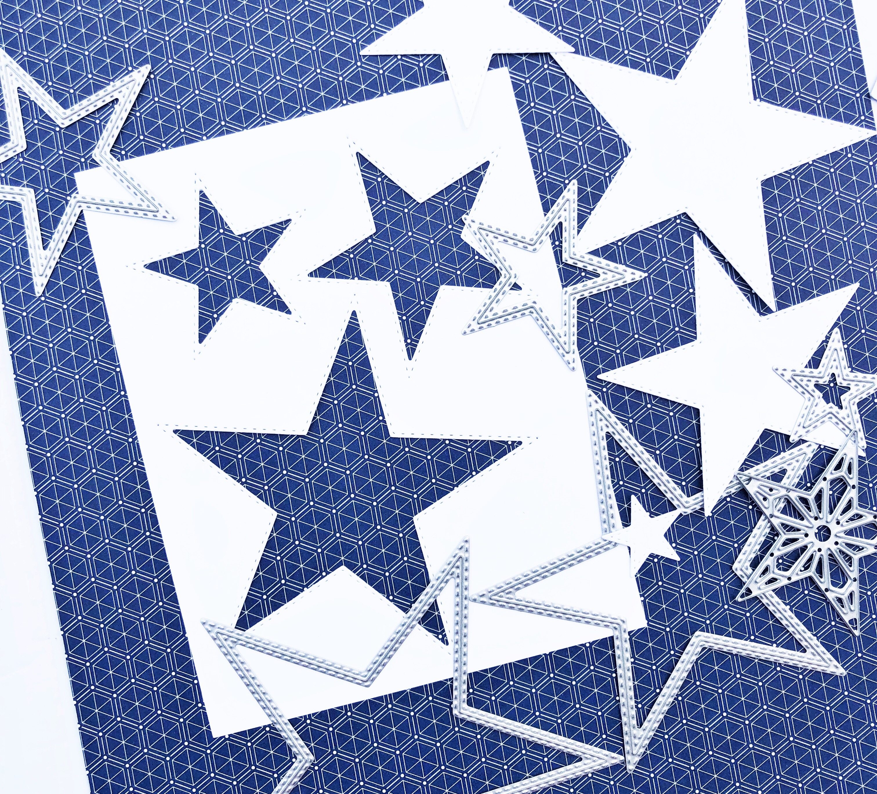Stitched Stars Framelit dies by Stampin' Up!