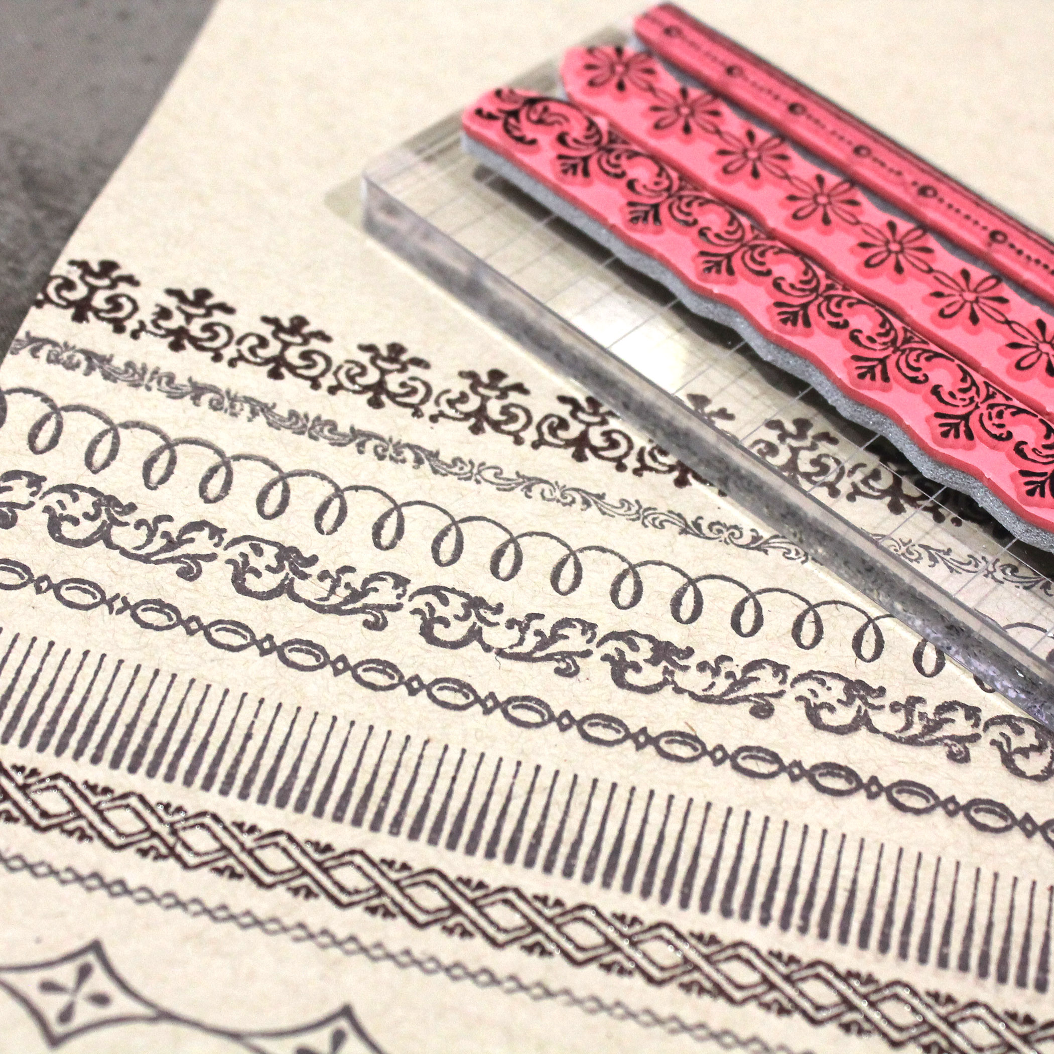 Vintage Ornate Trim Stamps by Stampers Anonymous Tim Holtz