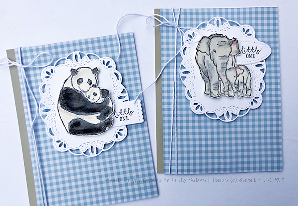Wildly Happy Cling Stamp set by Stampin' Up! Cards designed by Cathy Caines