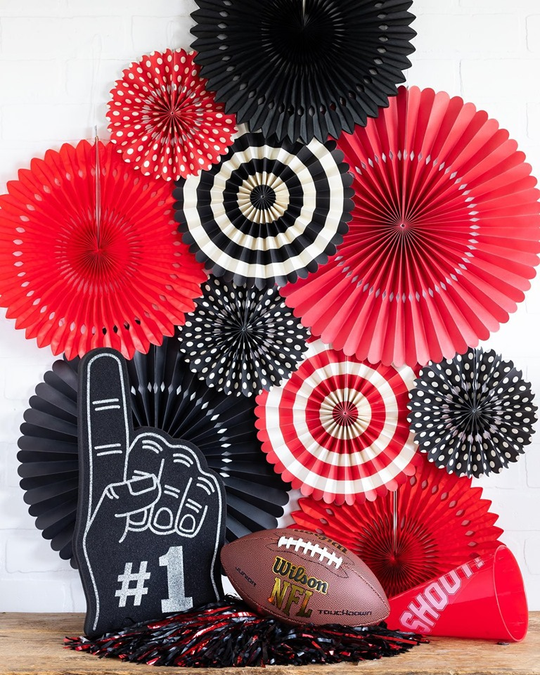 A variety of paper flowers in black, red and white featuring My Colors Cardstock