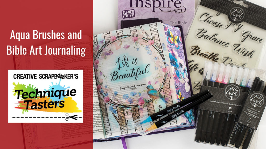 Aqua Brushes and Bible Art Journaling – Technique Tasters #200