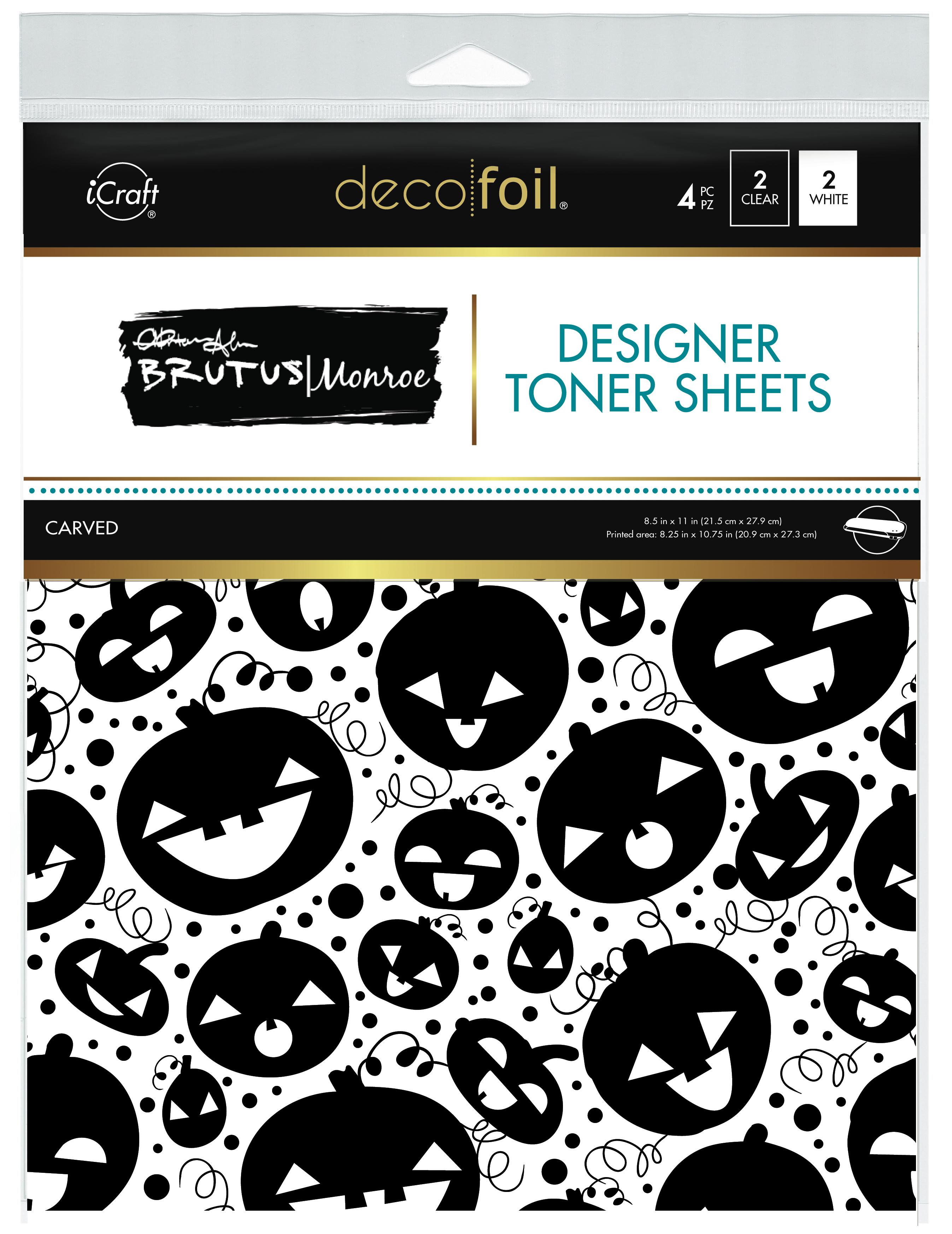 Brutus Monroe Designer Toner Sheets by Deco Foil Pumpkins