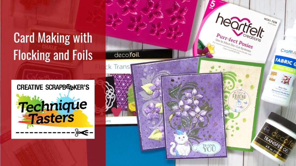 Card Making with Flocking and Foils – Technique Tasters #201