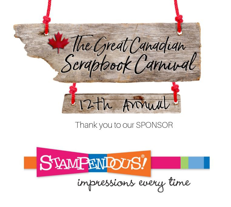 Stampendous Sponsor logo for the Great Canadian Scrapbook Carnival - Scrapbooking Retreat in Edmonton and Calgary, Alberta