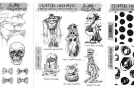 Stampers Anonymous Tim Holtz Halloween Cling Foam stamp sets