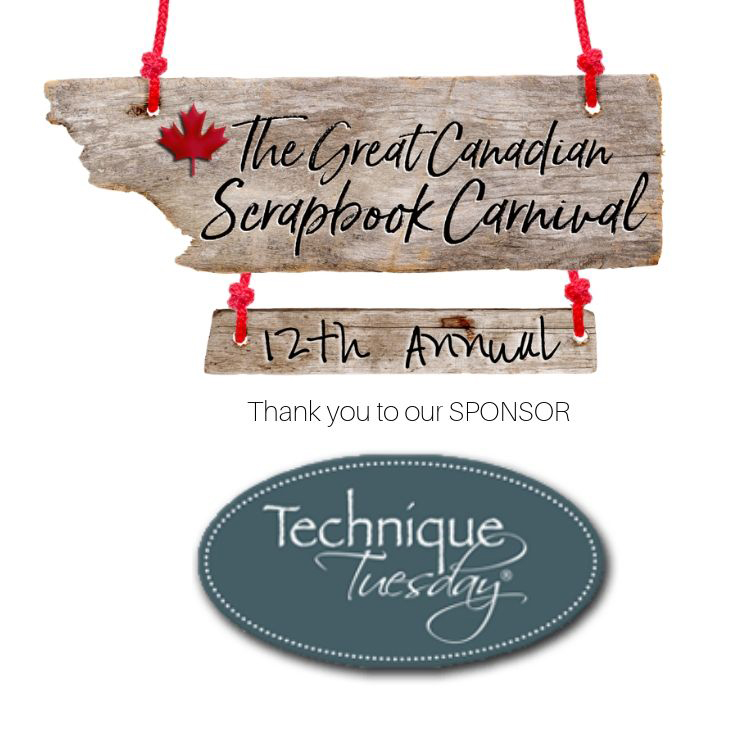 Technique Tuesday Sponsor logo for the Great Canadian Scrapbook Carnival - Scrapbooking Retreat in Edmonton and Calgary, Alberta