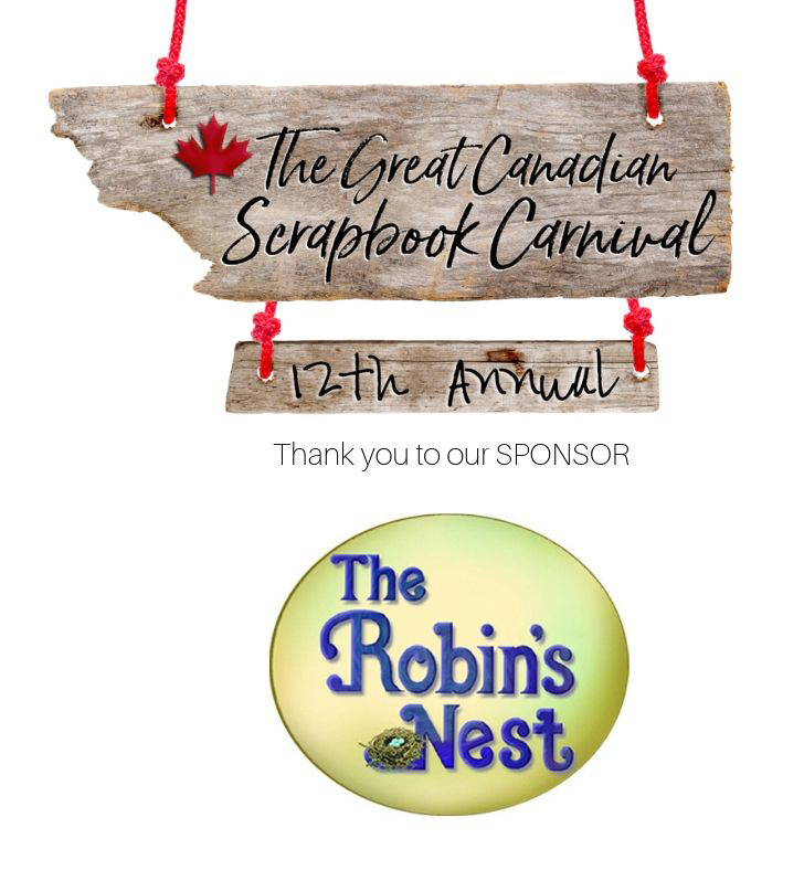 Carnival Sponsor The Robin's Nest logo for a scrapbooking retreat in Alberta in Fall 2019