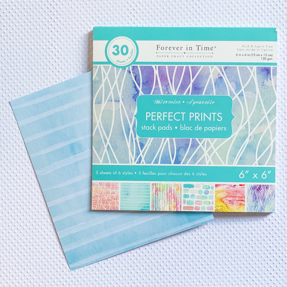 MutiCraft's Forever in Time Watercolor Stack pads / 6x6 cardmaking