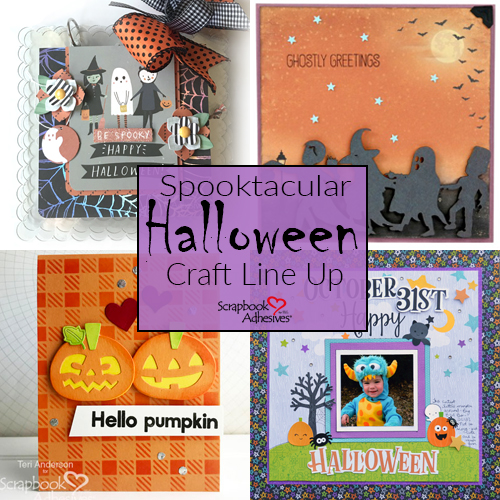 Halloween scrapbook projects featuring Scrapbook Adhesives by 3L