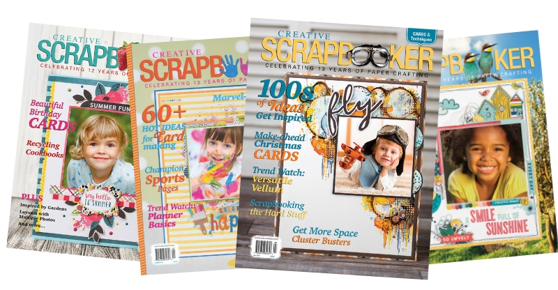 4 issues of Creative Scrapbooker Magazine