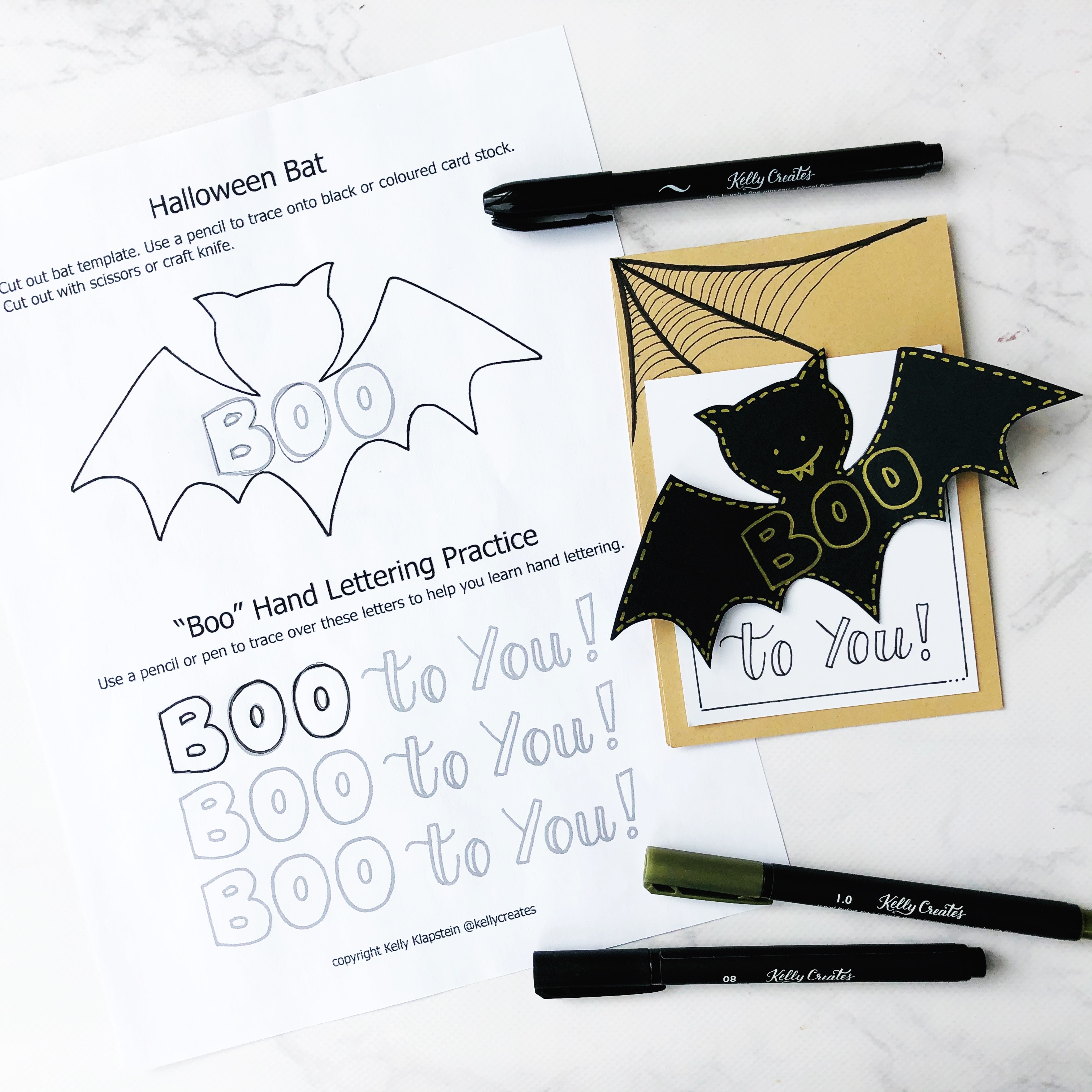 Free Halloween Template designed by Kelly Klapstein