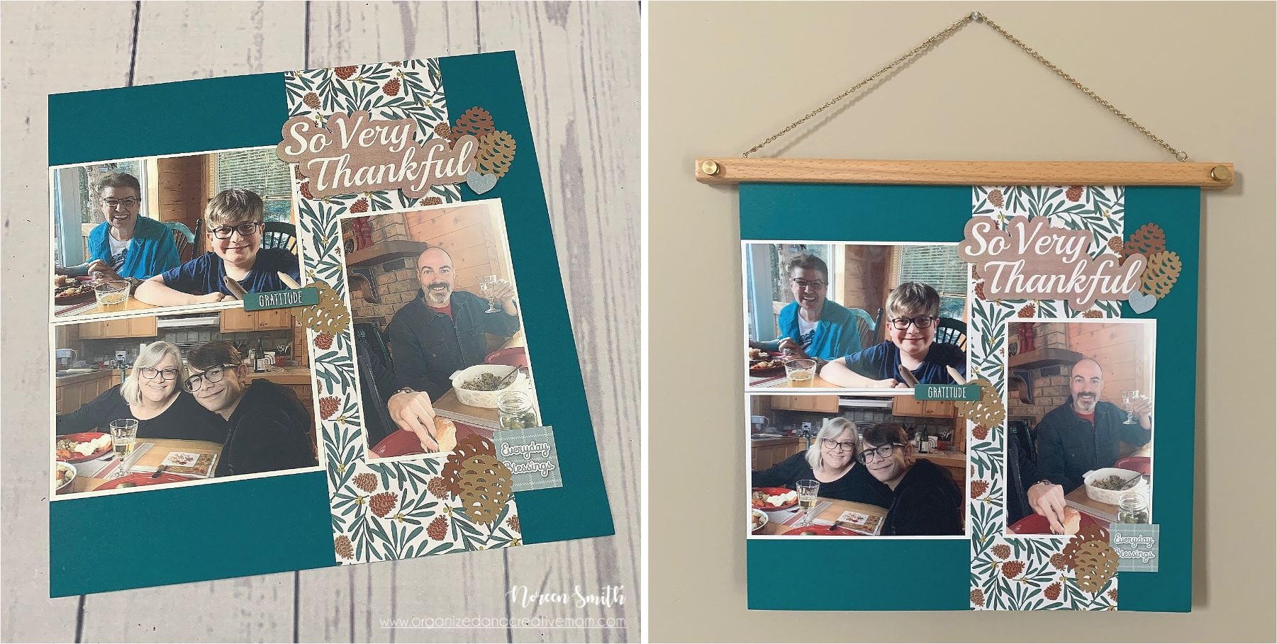 Wooden Frame Hangers with a 12X12 layout featuring products by Creative Memories