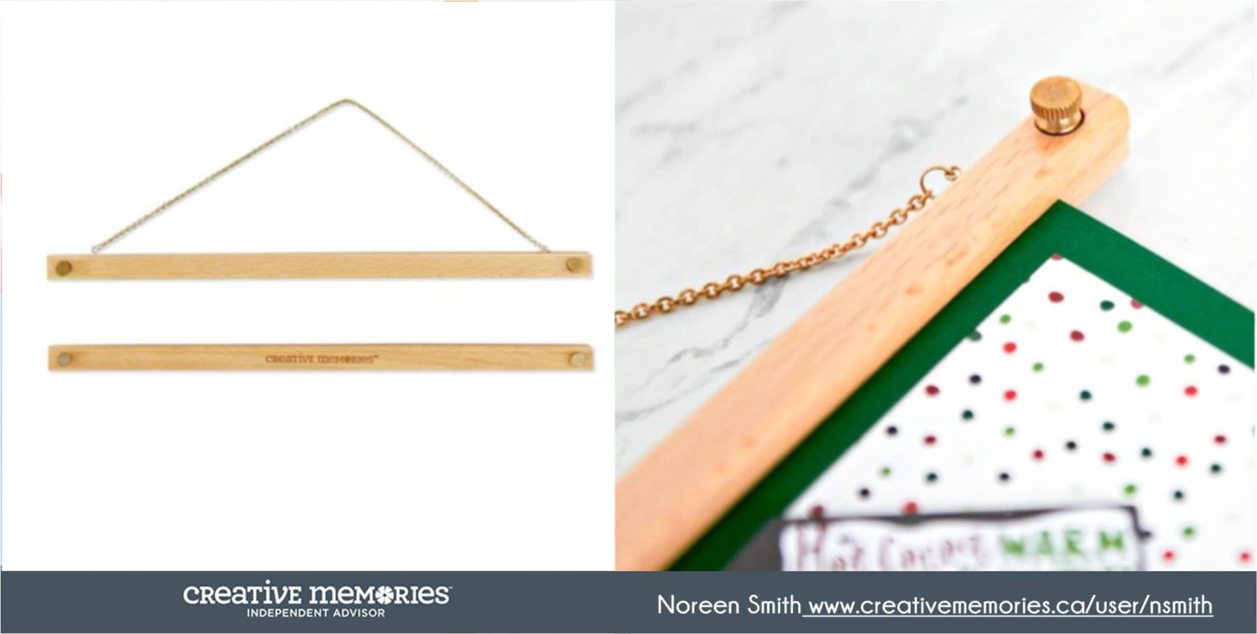 Wooden Frame Hangers by Creative Memories