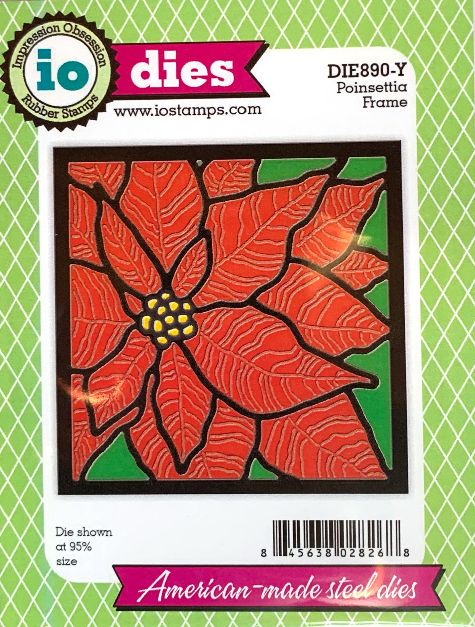 Impression Obsession Quilted Poinsettia Frame Die