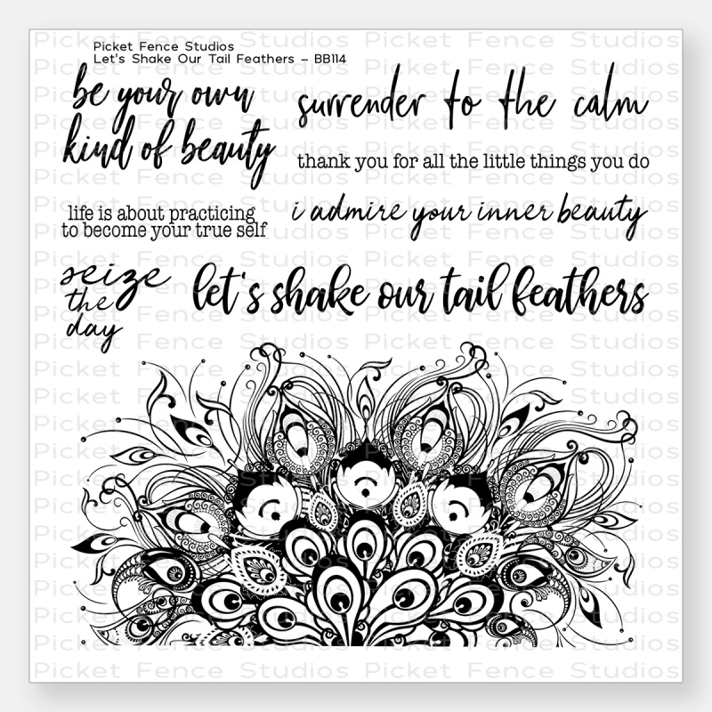Let's Shake Our Tail Feathers Stamps Set by Picket Fence Studios