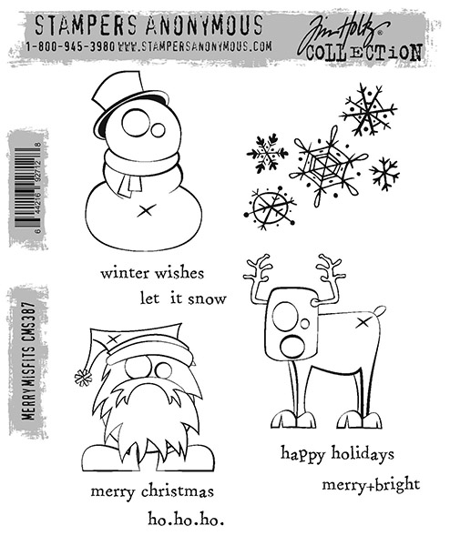 Stampers Anonymous Tim Holtz Merry Misfits Stamp Set