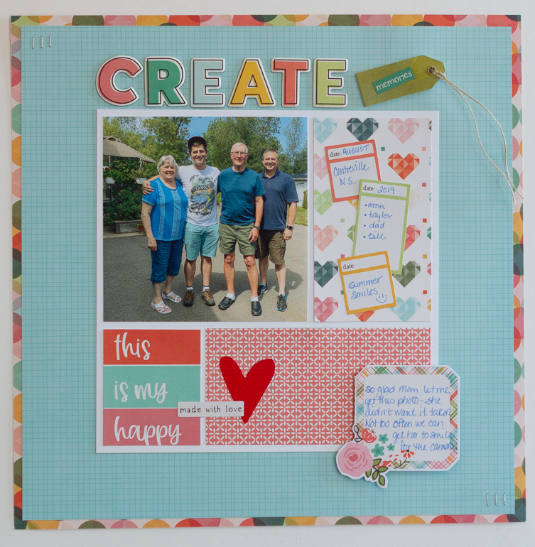 Scrapbook layout by Kim Gowdy / Simple Stories / Hey Crafty Girl