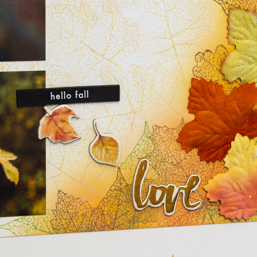Prima's amber moon collection / scrapbook layout