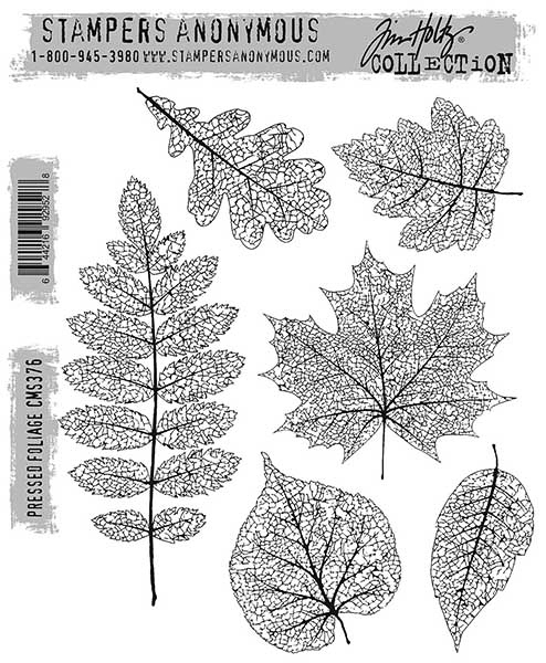 Stamper's Anonymous Pressed Foliage set / Autumn layout