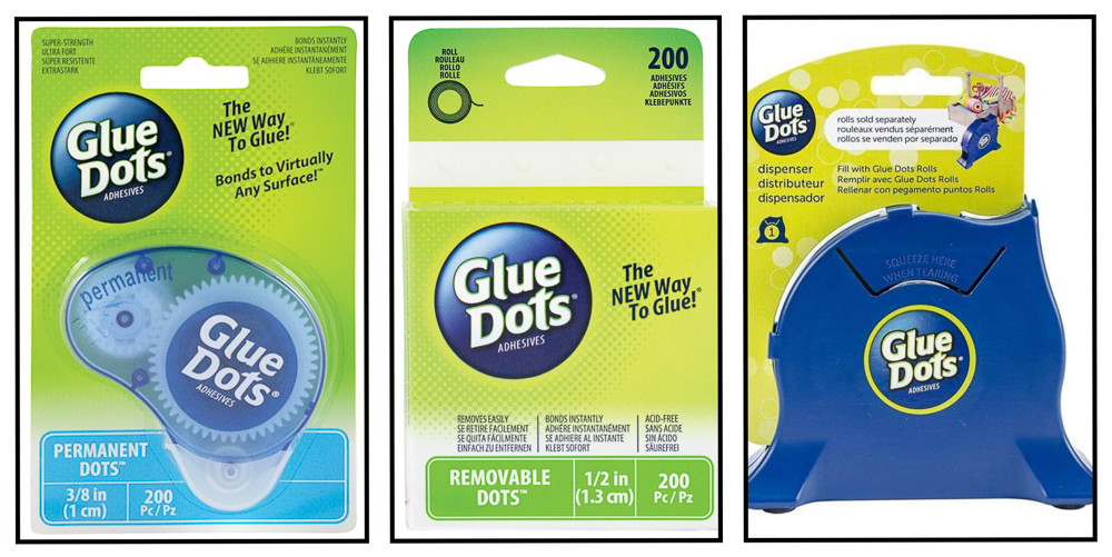 Glue Dots for scrapbooking / keeps everything STUCK in place!