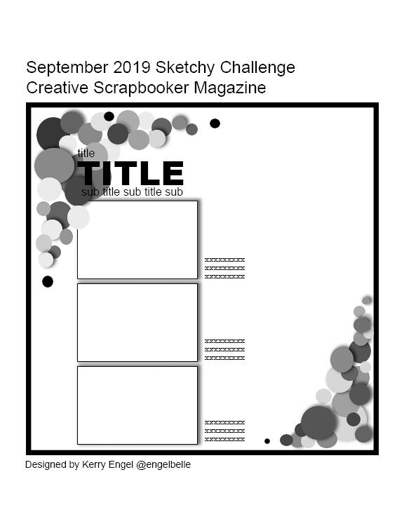 September Sketchy Challenge / scrapbooking sketch