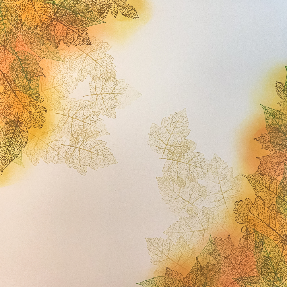 Pressed Foliage stamps with Distress Oxide Inks