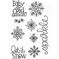 Impression Obsession Snowflake Sparkle Stamp Set