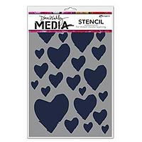 Dina Wakley Media Stencil – The Best Heart