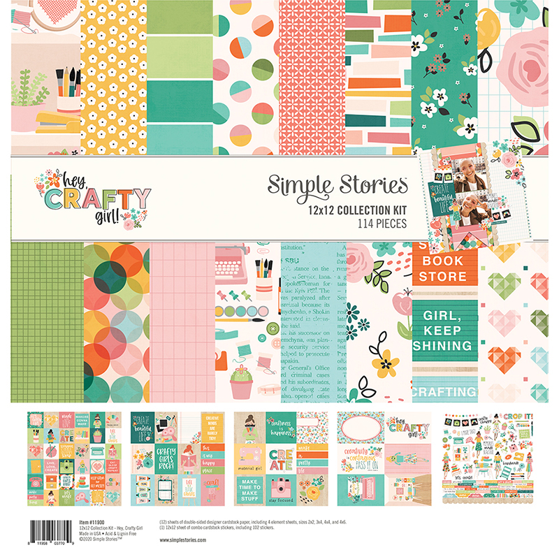 Hey Crafty Girl Collection by Simple Stories