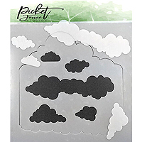 Picket Fence Studios Layers of Cloud Stencil