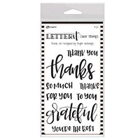 Ranger Letter It Clear Stamp Set – Thank You