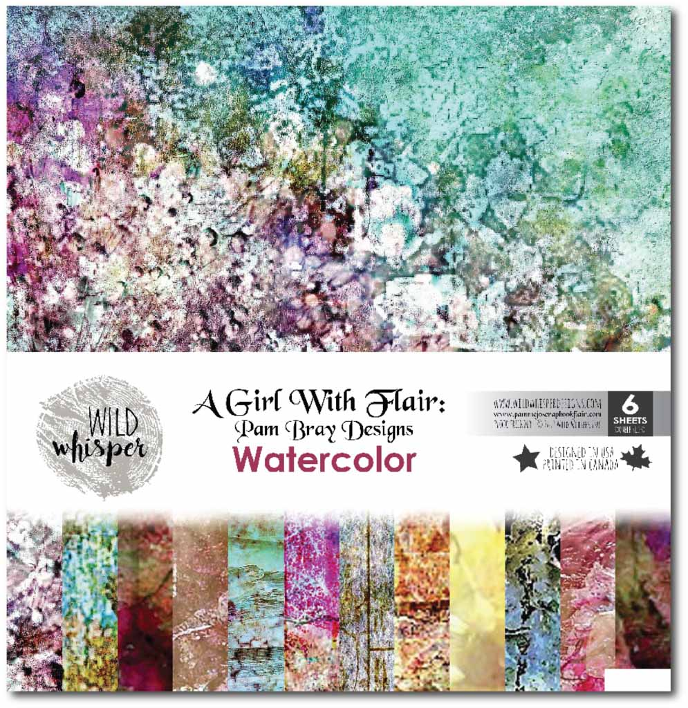 Wild Whisper A Girl With Flair Watercolor patterned paper collection