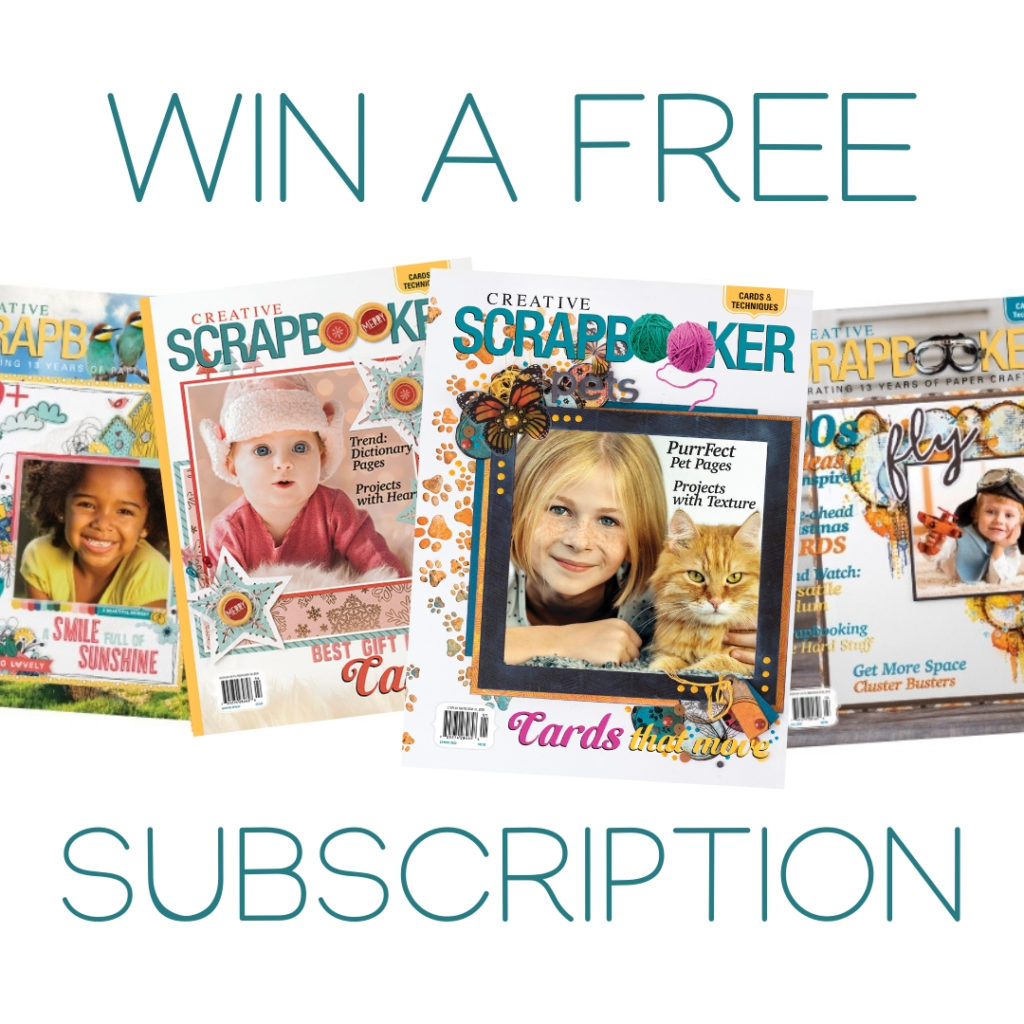 Creative Scrapbooker Magazine - Subscription Giveaway