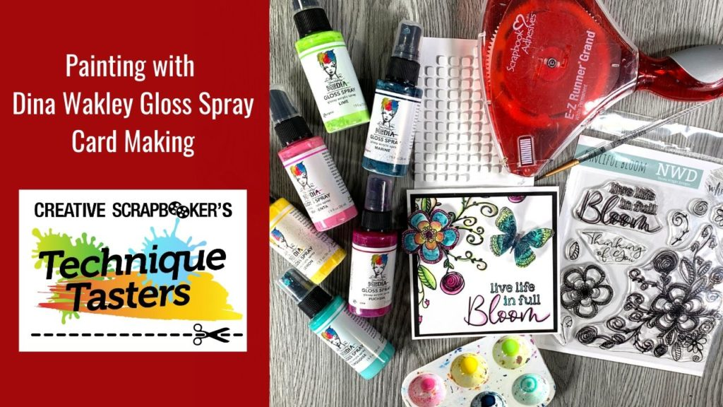 Painting with Dina Wakley Gloss Sprays – Technique Tasters #220