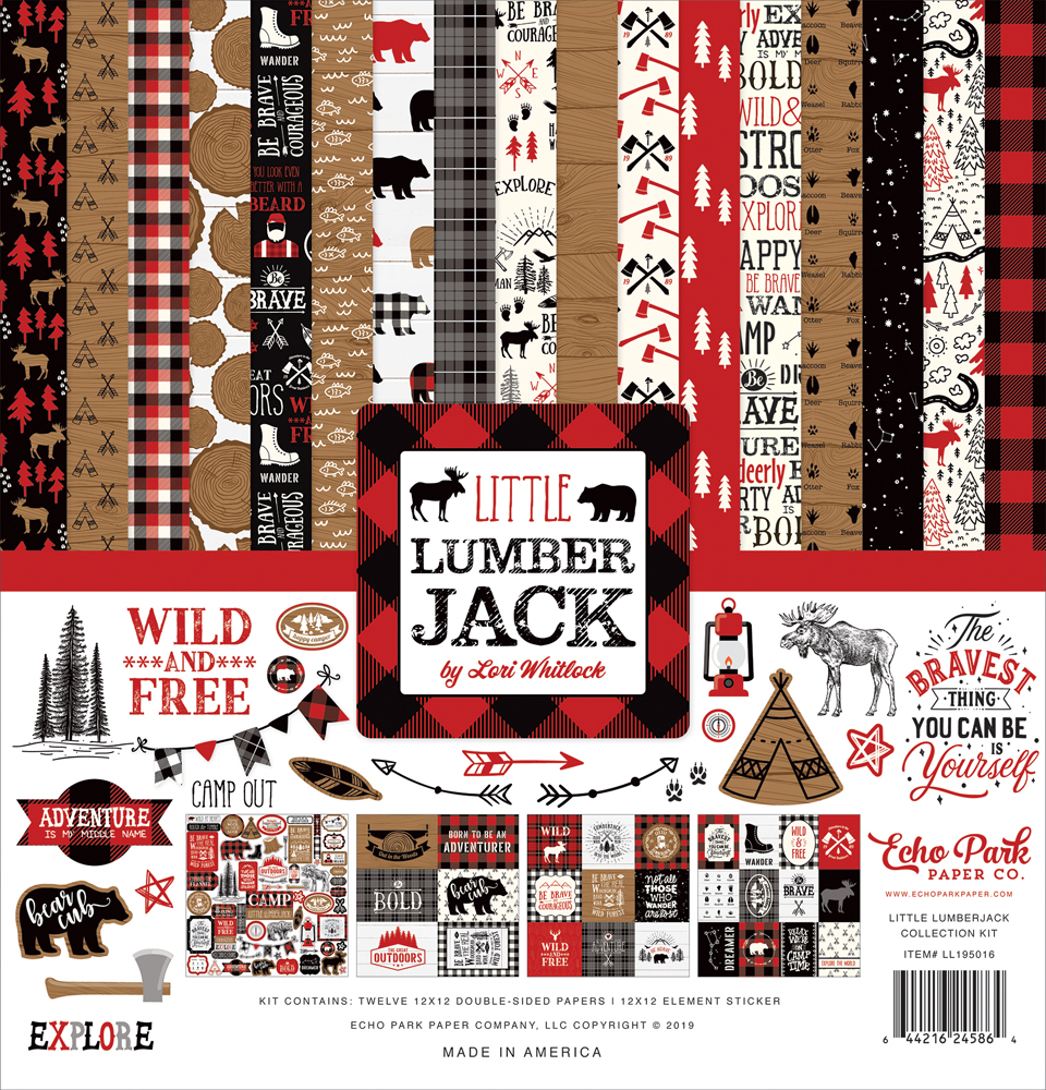 Echo Park / Little Lumberjack Collection / scrapbooking & cardmaking