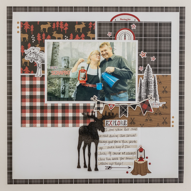 Scrapbooking layout / Echo Park - Little Lumberjack Collection