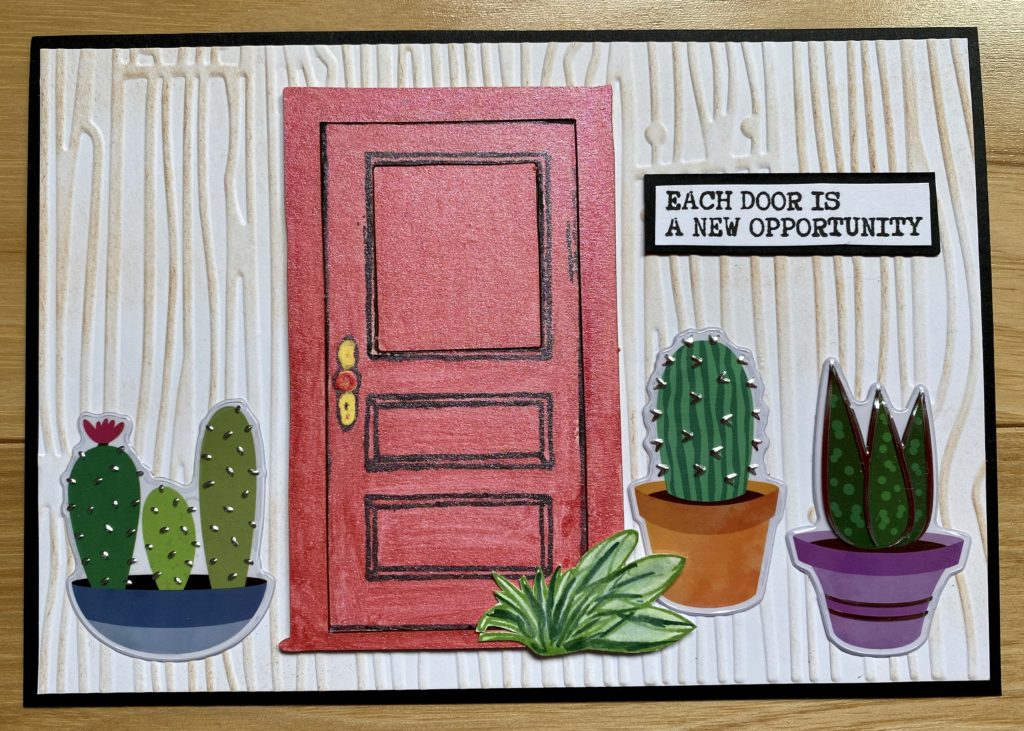 connie nichol front door art card